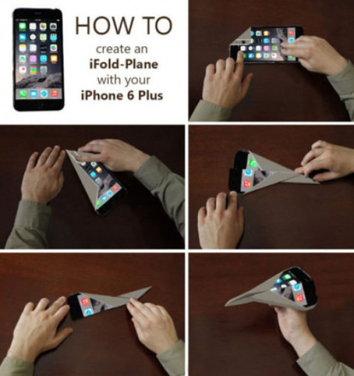 iFold Plane. How to create an airplane with your iphone6