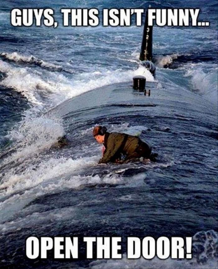 Guys, this isn't funny, open the door!