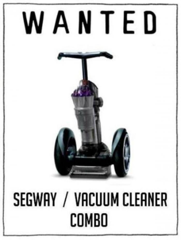 Segway vacuum cleaner combo!