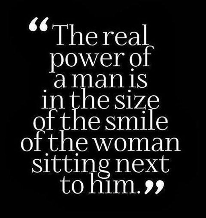 The real power of a man is...