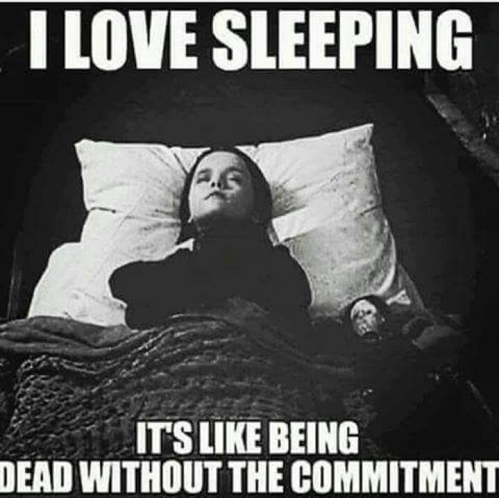 Sleeping - Like being dead without commitment