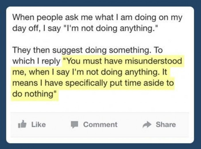 I'm not doing anything.