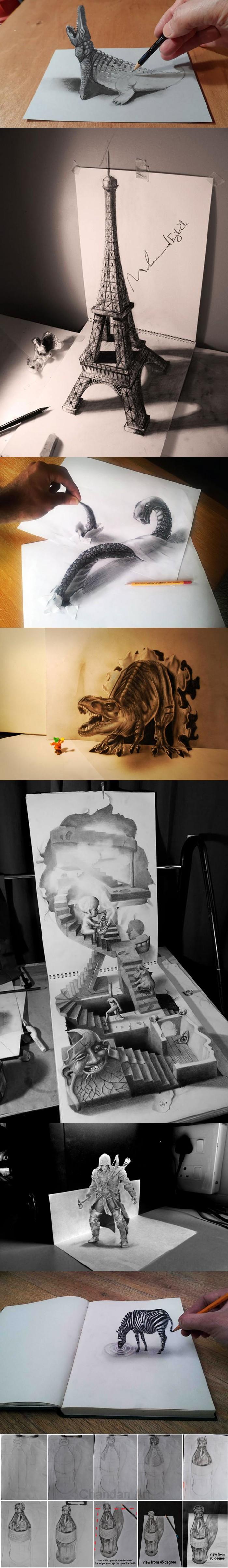 8 Stunning 3D Pencil Drawings
