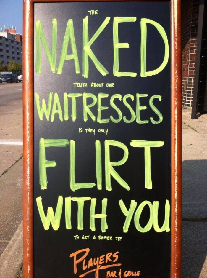 Naked waitresses flirt with you