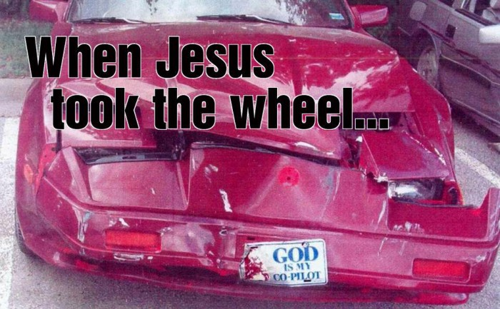 When Jesus took the wheel