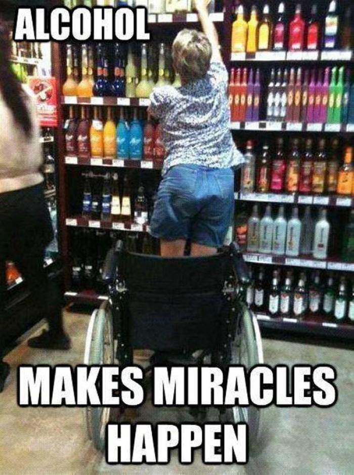 Alcohol makes miracles