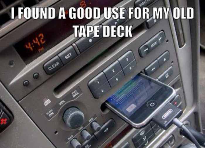 I found a good use for my old tape deck