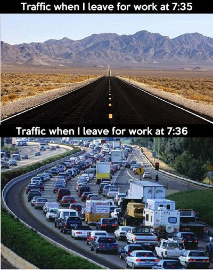 Traffic When I Leave For Work At 7:35...