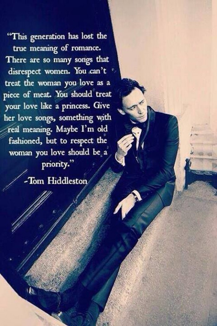 Thom Hiddleston - This generation has lost the true meaning of romance.