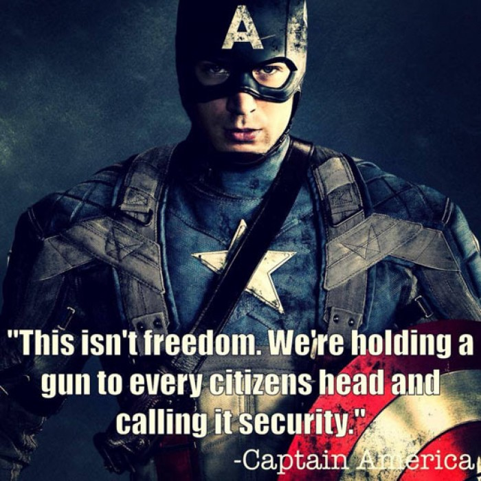 Captain America - This isn't freedom...