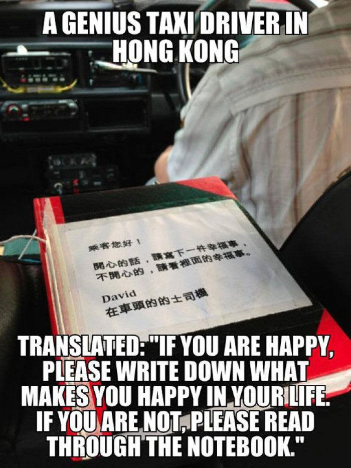 A Genius Taxi Driver In Hong Kong