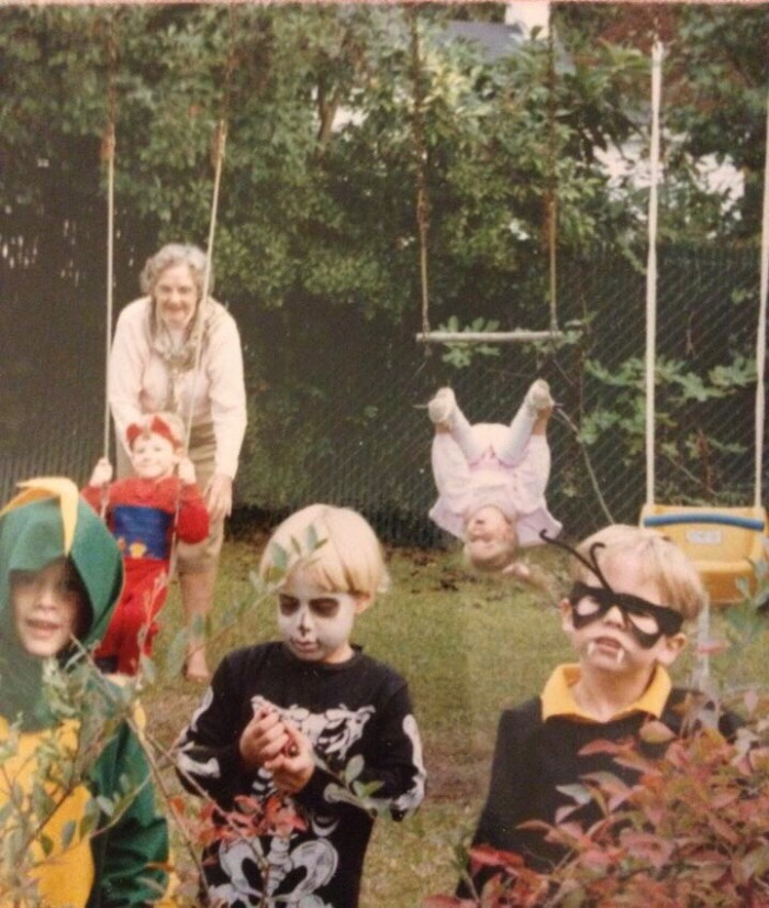 Halloween 1989. My sister is about to have a really bad day.