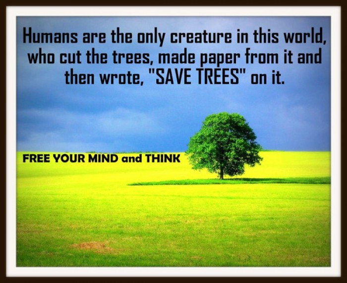 Humans paper logic - Save trees