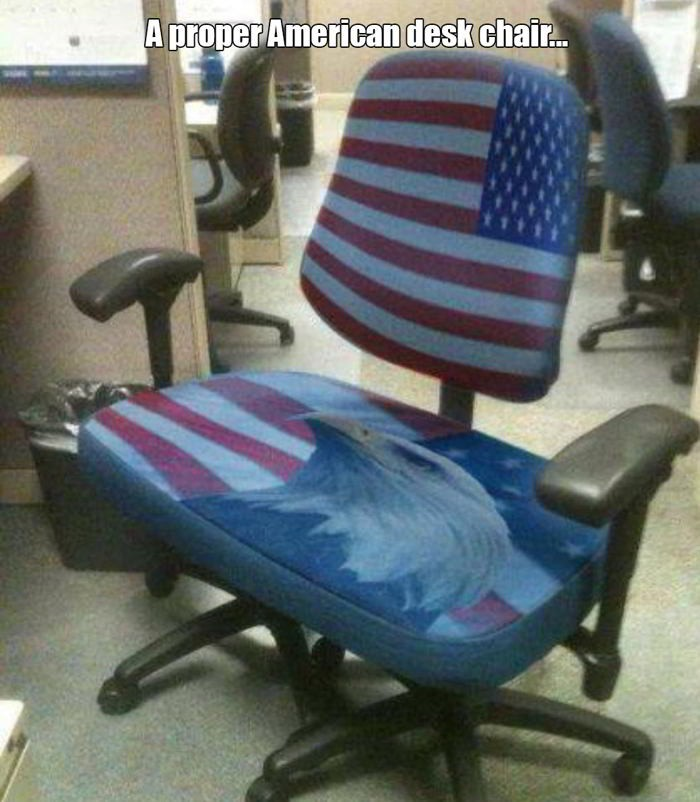 A proper American desk chair...
