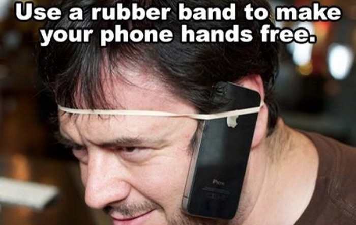 Rubber band - phone hands free