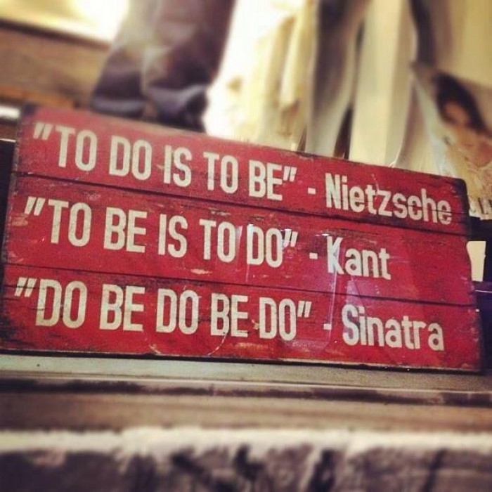 To do, to be, do be