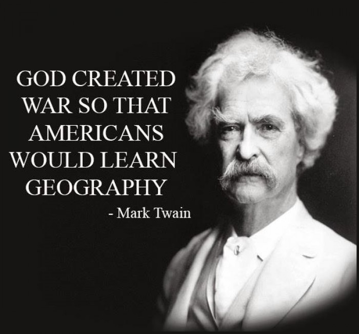 Mark Twain Quotes: Why Did God Create War?