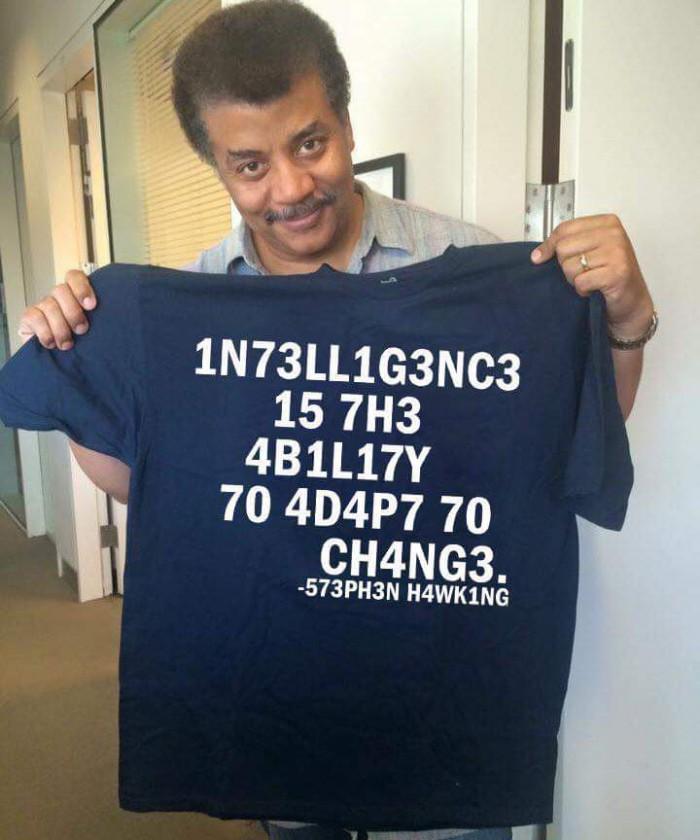 Neil deGrasse Tyson Got a T-shirt