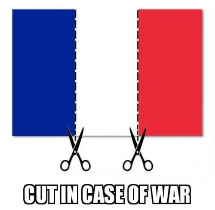 France flag - Cut in case of war