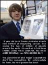 15 year old Jack Thomas Andraka invents new method of diagnosing cancer