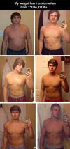 Amazing weight loss transformation from 250 to 190lbs