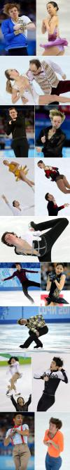 Figure skating funny faces