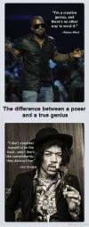 The difference between a poser and a true genius. Kanye West vs Jimi Hendrix