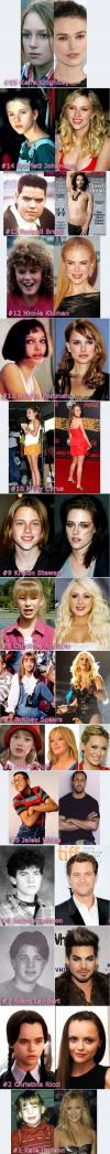 Young And Ugly Celebrities (Celebs)