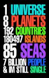 1 Universe, 8 Planets, 192 Countries, 180497 Islands, 85 Seas...