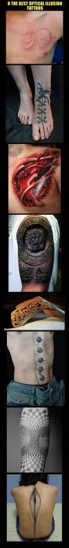 8 The Best Optical Illusion Tattoos